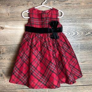 4/$25 Gymboree Tartan Plaid Holiday Dress w/ Bow